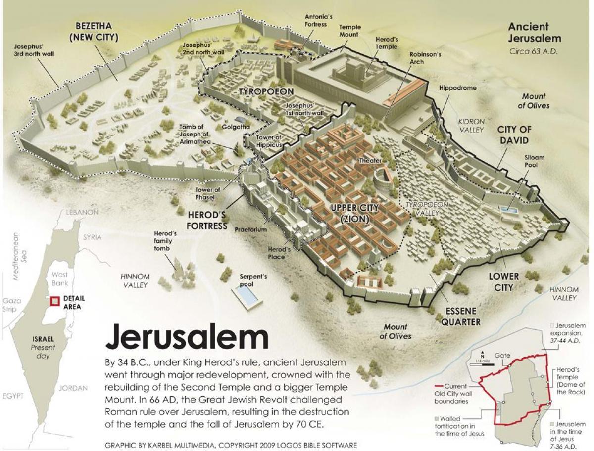 jerusalim mapa Antiga Jerusalém mapa   Mapa da antiga Jerusalém (Israel) jerusalim mapa